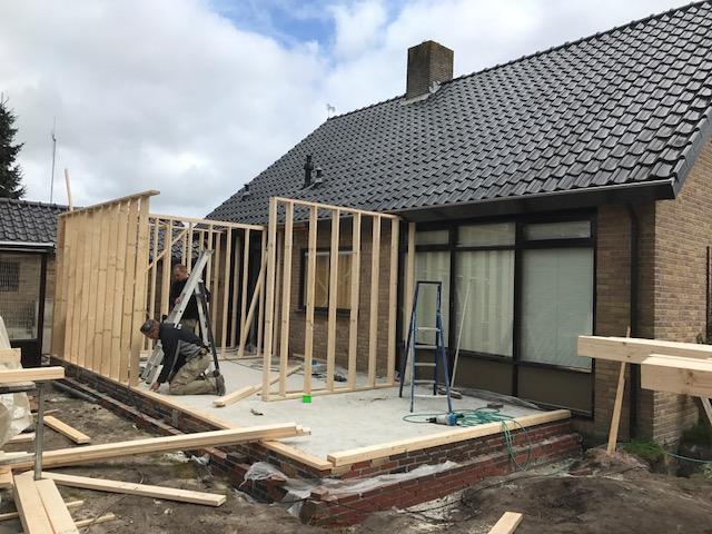 Aanbouw woning Scheemda april 2017 | Aannemingsbedrijf Pijper Winschoten